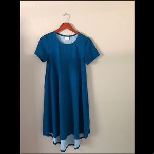 LuLaRoe Carly Hi-Low T-Shirt Dress - Sz: XS